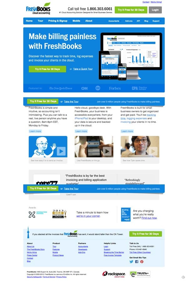 freshbooks-landing-page