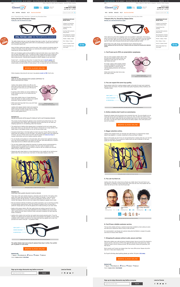 glassesusa-landing-pages