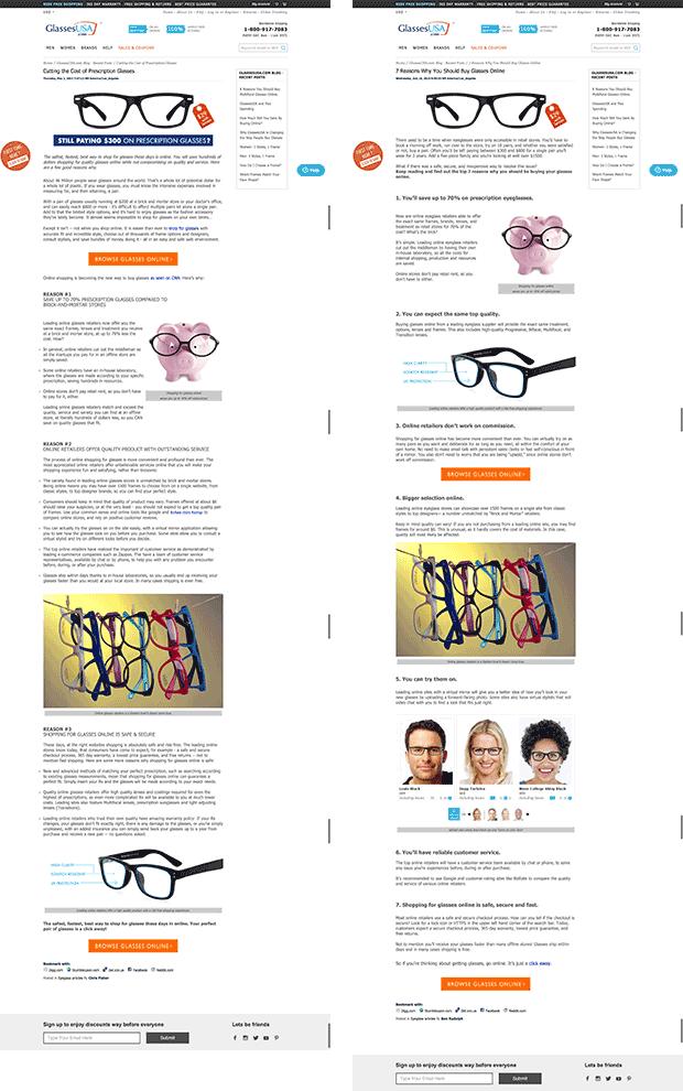 glassesusa-landing-pages