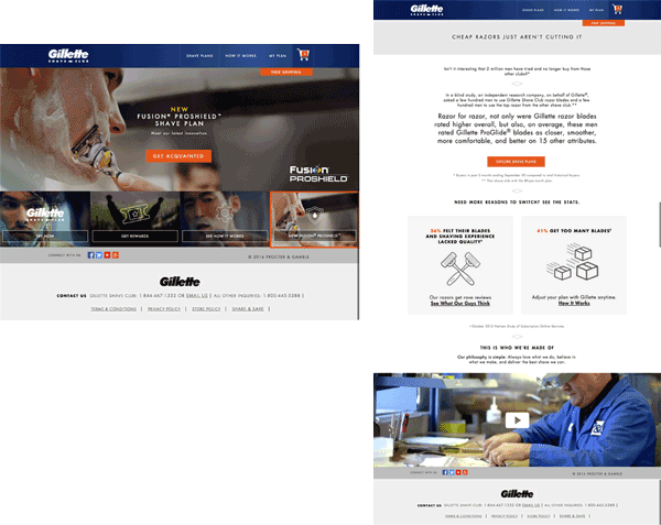 gillette-landing-pages