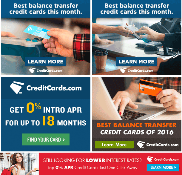 The business of display part 8 credit card affiliate offers adbeat balance transfer cards and 0 apr cards credit cards standard ad creatives reheart