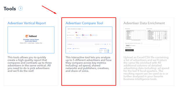 Advertiser Compare Tool
