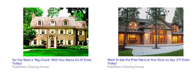 Publishers Clearing House Ad image