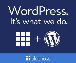Bluehost WordPress ad