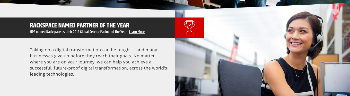 Rackspace HPE award - homepage