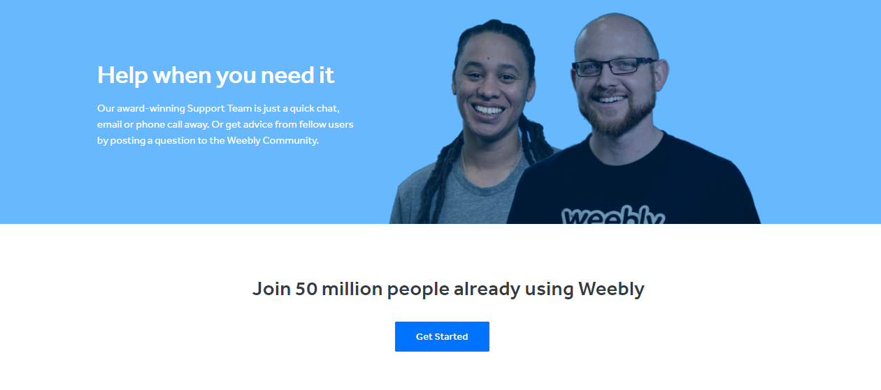 Weebly Social Proof